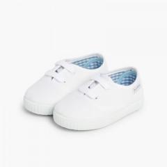 Baskets Enfant avec Lacets Blanc