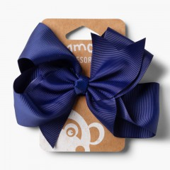 Élastique Cheveux Grand Ruban Bleu marine