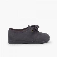 Chaussures Blucher bébé enfant serratex à scratch Gris