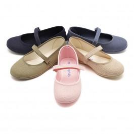 Chaussures babies en Lin avec Velcro fin pour filles