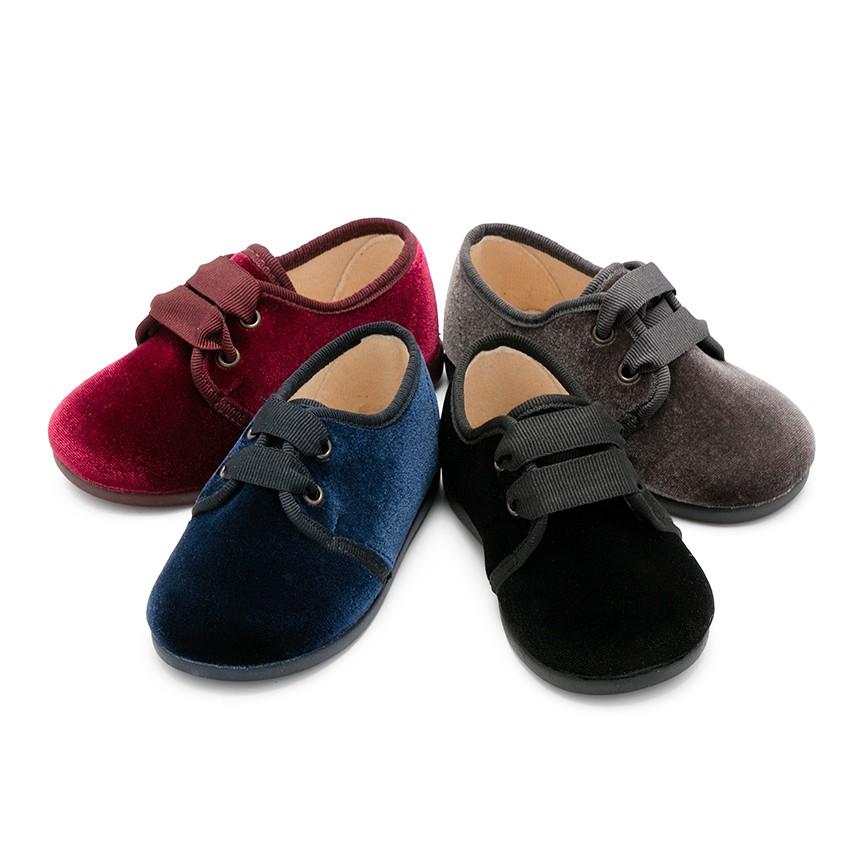 Chaussures en velours à ruban