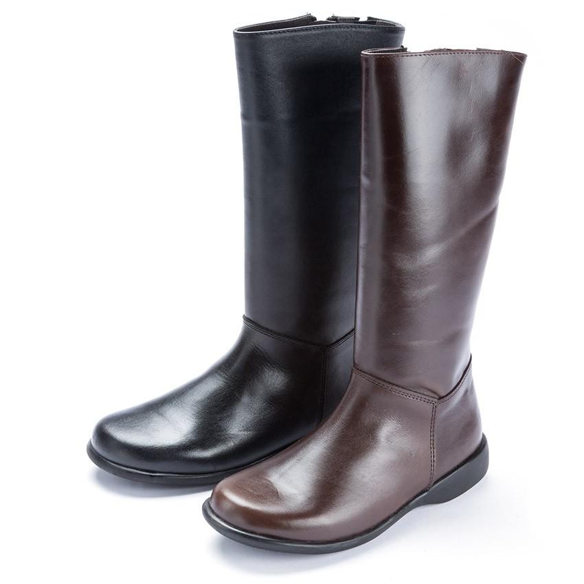 Bottes tige haute cuir couleurs unies filles chaussures enfant en ligne pisamonas - Tuile tige de botte ...