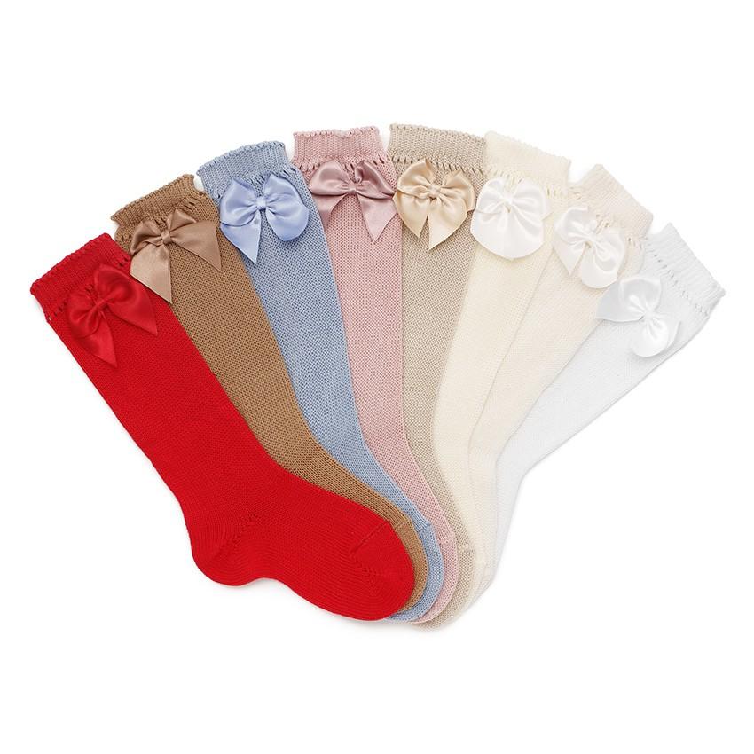 Chaussettes Hautes CONDOR Perlées avec Rubans