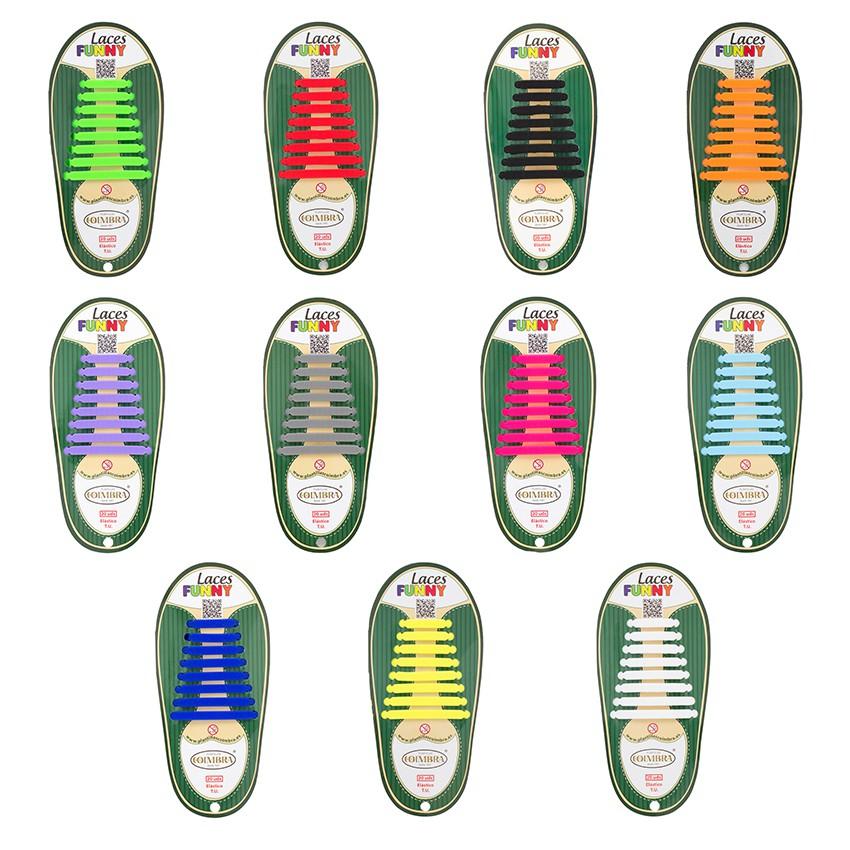 Lacets élastiques de couleurs Pack de 20