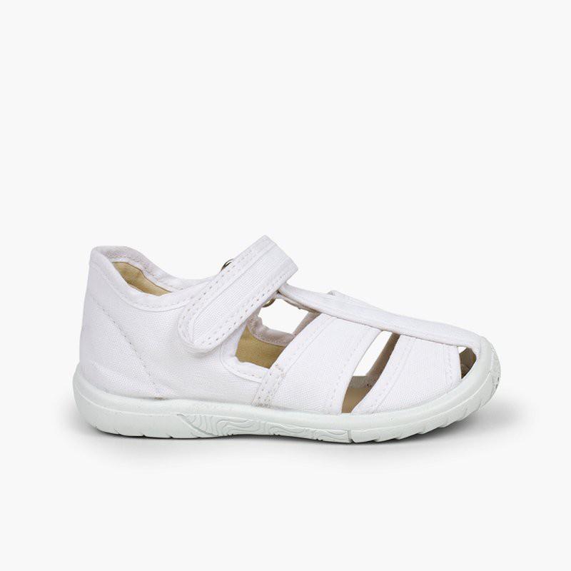 Chaussures salomé sandale à scratch garçon bout renforcé