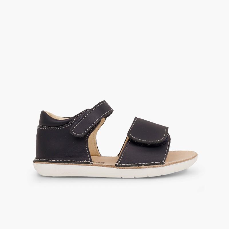 Sandales premiers pas en double à scratch
