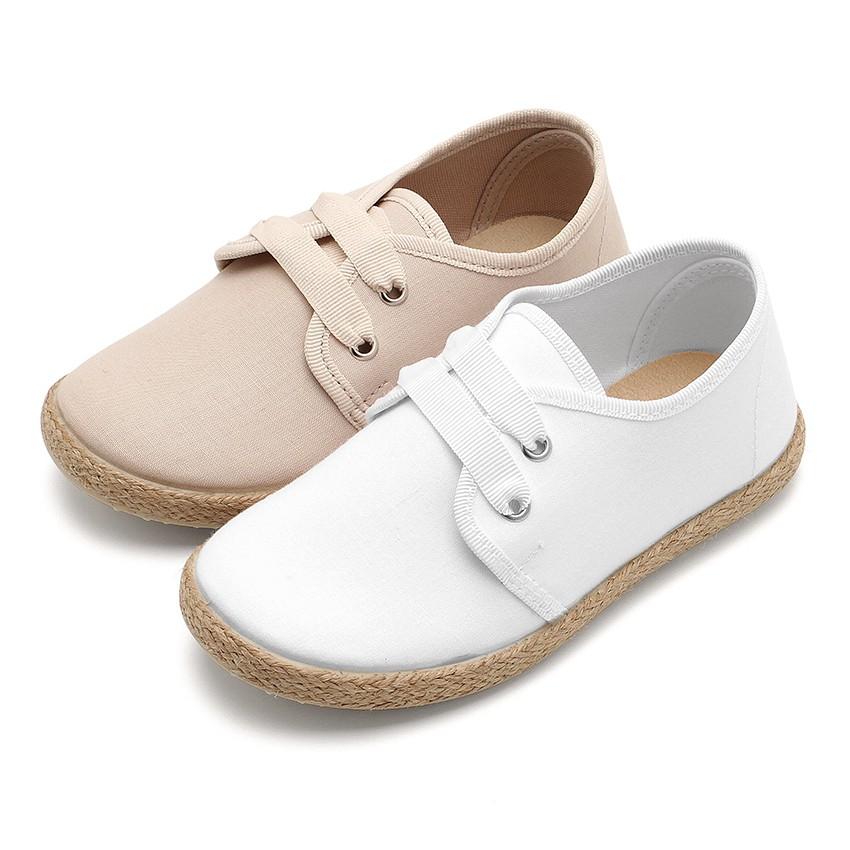 Chaussures Derbies Façon Espadrille Avec Effet Satiné