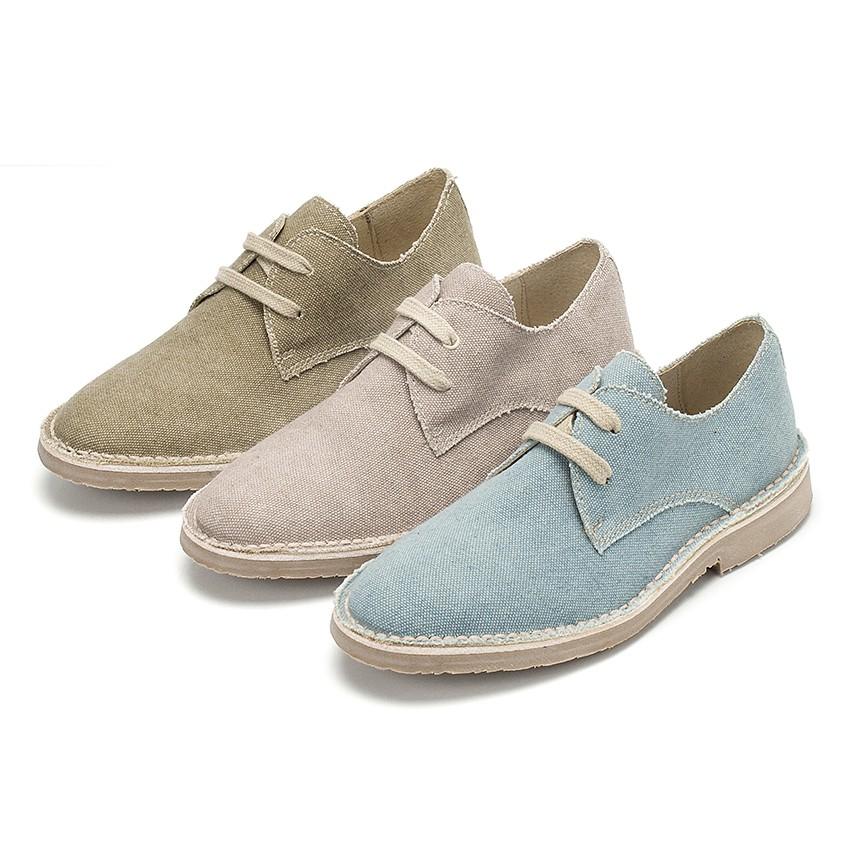 Chaussures Blucher Toile Jute