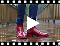 Video from Bottines de pluie fille style urban