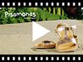 Video from Sandales cuir lisse Métallisées