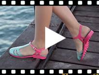 Video from Sandales Plastique Femme type romaines Laida