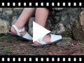 Video from Sandales Avarcas cuir nappa et Velcro pour Enfant