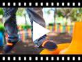 Video from Mocassins grandes tailles en toile avec bandes de couleurs