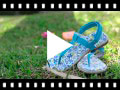 Video from Sandales entredoigts Toile Velcro Fille