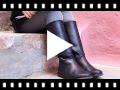 Video from Bottes Tige Haute Cuir Couleur Unie