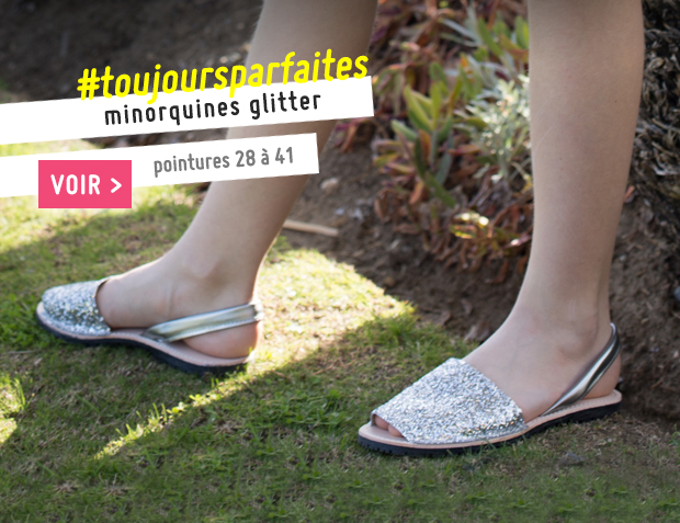 Minorquines Glitter Fille & Femme Collection Printemps Été 2017