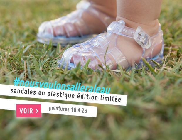 Sandales en plastique Pisamonas -Édition limitée Collection Printemps Été