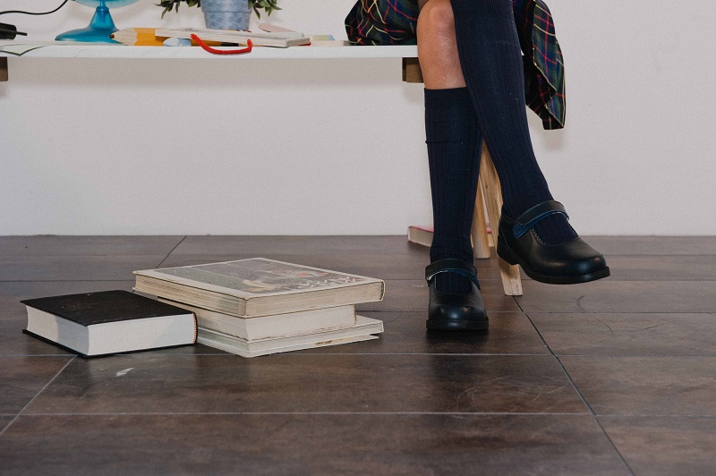 Pisamonas Chaussures scolaires avec cierre autoadherente