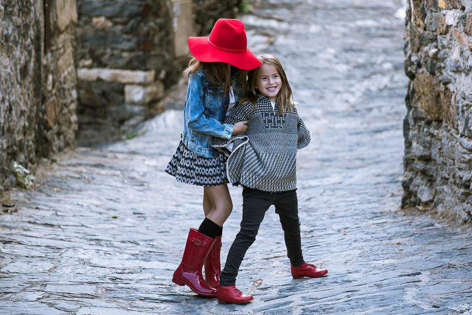 Botas rojas para niñas Pisamonas