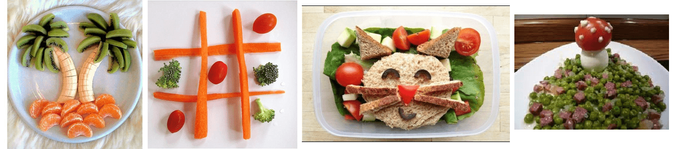 Presentaciones divertidas para la comida de tus peques